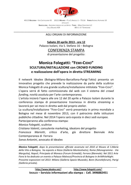 Conferenza Stampa - 20.04.13