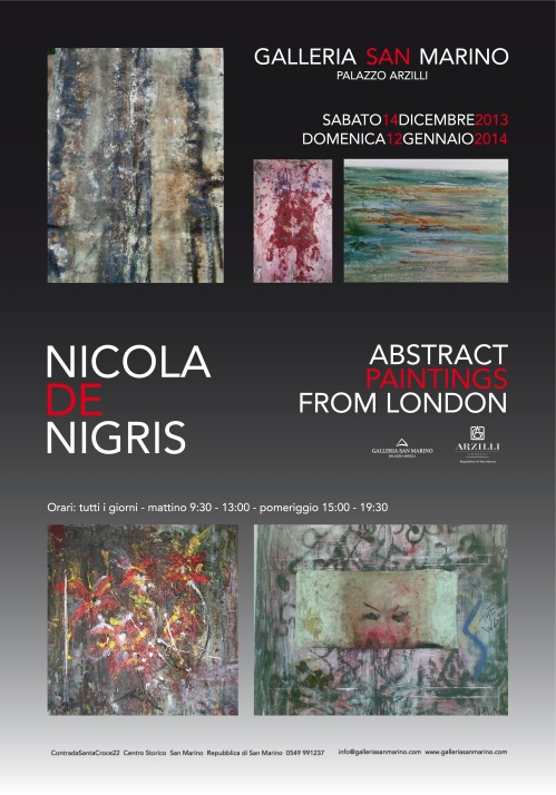NICOLA DE NIGRIS INVITO ABSTRACT PAINTINGS FROM LONDON