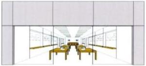 L'allestimento dell'Apple Store come marchio tridimensionale