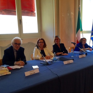 Lavinia Savini and Hélène Dupin at the French-Italian Seminar on L'ART DANS TOUS SES ETATS – University of Bologna